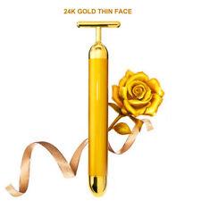 24k Gold Vibration Face Roller Massager Stick Lift Skin Tightening Wrinkle Bar