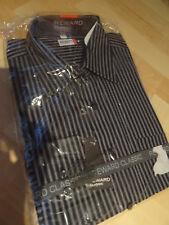 Gestreifte Herren-Freizeithemden   -Shirts mit Stehkragen Hemd-Stil ... 3f8c0ed159
