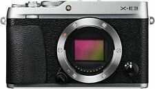New Fujifilm X-E3 Mirrorless Digital Camera Sliver Body Only + 32GB SD CARD free