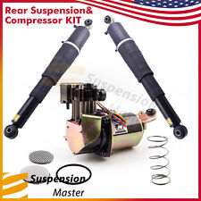 2 Rear Shock Struts Air Suspension Compressor Kit  Fit Chevy Chevrolet Cadillac