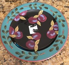 New Certified Int'l FRESH FRUIT Plums Dinner Plate design by Jean Townsend
