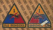 US Army 1st Armored Division OLD IRONSIDES Tank Armor dress patch m/e