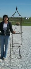 "72"" Large Wrought Iron Rose Topiary Garden Plant Trellis - Built to last"