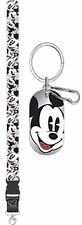 2 Piece Mickey Mouse Expressions Key Chain Lanyard Set