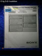Sony Service Manual DCR TRV255E TRV260 TRV265 TRV265E ADJ (#5794)