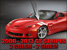 2006 - 2013 C6  Chevy Corvette Grand Sport Style Stripe Decal Set 2 Color