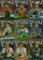 2002 Press Pass TOP SHELF Complete 9 card set BV$60 Jr, Gordon, Stewart, Harvick