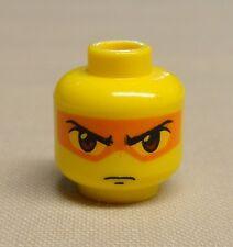 x1 NEW Lego Minifig Head Dual Sided Exo-Force w/ Orange Mask Angry Look Hikaru