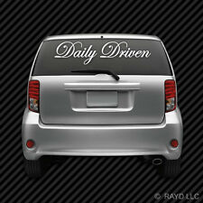 Large Daily Driven Windshield Vehicle Sticker Die Cut Decal Self Adhesive Vinyl