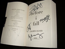 Before I Fall 1st print SC book signed by 6 cast/crew members Zoey Deutch + 5