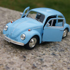 Model Cars 1967 Classic Vw beetle Alloy Diecast two doors can be opened Blue Toy