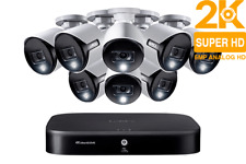 Lorex HD Security Camera System with 8 2K Active Deterrence Cameras Night Vision