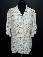 KRIZIA Camisa De Mujer Viscosa Rayón mujer camisa Sz. XL - 48