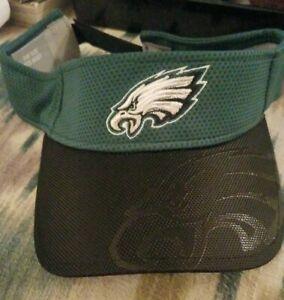 Philadelphia Eagles New Era NFL Summer Sideline Official Visor  Black/Green New