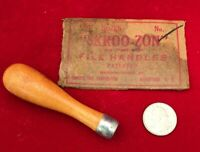 Vintage machine shop file handle Skroo-zon #2 USA Safety Tool Corp New Old Stock