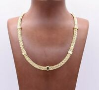 6mm Spiga Wheat Chain Necklace Senora Clasp Real 10K Yellow Gold 18""