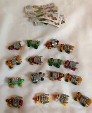 16 Kinder Suprise Egg Toys -Tierische turbo Renner Germany 1994 Power Racer Cars