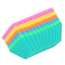 Silicone Rectangle Cake Muffin Cupcake Liner Chocolate Bake Cup Mold 6Pcs NP2Z