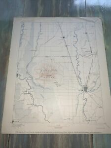 Vintage -Reconnaissance Map- Marysville California 1911 Geological Survey.