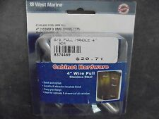 """WEST MARINE 9374489 4 """" SS WIRE PULL CABINET HARDWARE"""