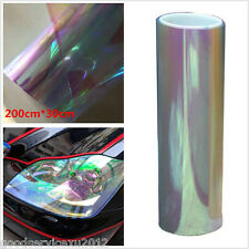 78*12in Colorful Transparent Auto Headlight Taillight Fog Lights Vinyl Tint Film