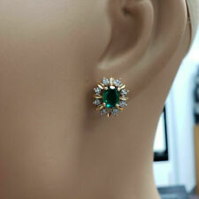 2.50 Ct Black Diamond Stud Earrings 14k Yellow Gold