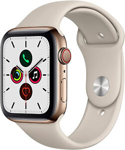 Apple Watch Series 4 44 mm Gold Stainless Steel Case with Stone Sport Band (GPS