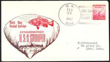 Submarine USS GROUPER SS-214 COMMISSIONING 1942 Naval Cover (8362y)