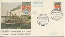 FIRST DAY COVER / PREMIER JOUR FRANCE / ARMOIRIES DE BORDEAUX 1958