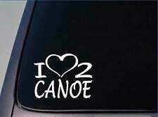I heart to canoe sticker *H181* 8 inch wide vinyl boat fishing decal
