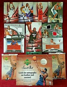 2006-07 Upper Deck Sweet Shot 15 LeBron James 38 Kobe Bryant Ming Oneal Lot