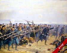8TH BRIGADE BATTLE OF DYBBØL PRUSSIA DENMARK WAR PAINTING ART REAL CANVAS PRINT