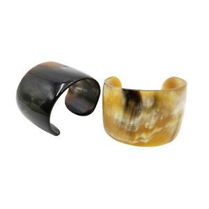 Buffalo Horn Bracelet Cuff Natural Handmade Jewelry Glossy