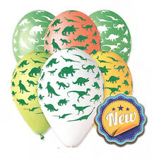 "Dinosaur Balloon Print 30cm-12"" Assorted Colours Pack of 10 pcs Helium / Air"