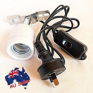 Light Holder Ceramic Infrared Heat Emitter Lamp Reptile Chicken Brooder Heater