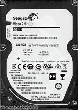 "Seagate Video 2.5 HDD 500GB ST500VT000 P/N: 1DK142-500 F/W: 0001SDC1 WU 2.5"""