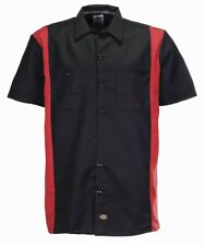Dickies - Chemise de travail bicolore Noir Rouge Anglais L