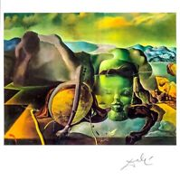 Hand signed Salvador Dali 45 year old vintage multi-color offset lithograph