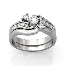 9ct White Gold Diamond Engagement Ring Set.