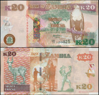 ZAMBIA BILLETE 20 KWACHA. 2012 (2013) LUJO. Cat# P.52a