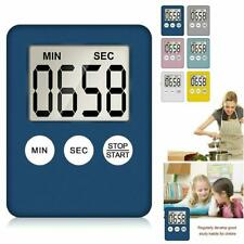 Large LCD Digital Kitchen Cooking Timer Count Down Clock Alarm Magnetic Timers S