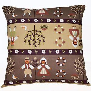 LL308a Khaki Oliver Kids Pure Cotton Canvas Fabric Cushion Cover/Pillow Case