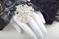 Modeschmuck-Ringe aus Glas ohne Stein
