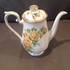 "Royal Albert Yellow Tea Rose 7 1/4"" Coffee Pot Lowest price on eBay FREE Ship"