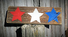 Handmade Wooden Sign...American Decor...Rustic Primitive Decor Red White Blue