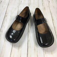 Alegria Womens Size EU 43 / US 13 Paloma Black Patent Leather Mary Jane Mules