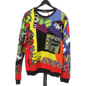 NWT $1600 Versace Made in Italy Cotton Vogue Tribute SS 1991 Print Sweatshirt XL