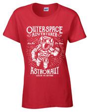Astronauta Camiseta S-2XL para Dama Retro Fallout Motivacional Aventurero Mujer
