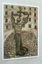 Original Poster Printout of Zdzisław Beksinski drawing on satin paper 5
