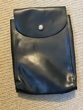 Ex Police Black Leather Document Pouch. Used. 1203.